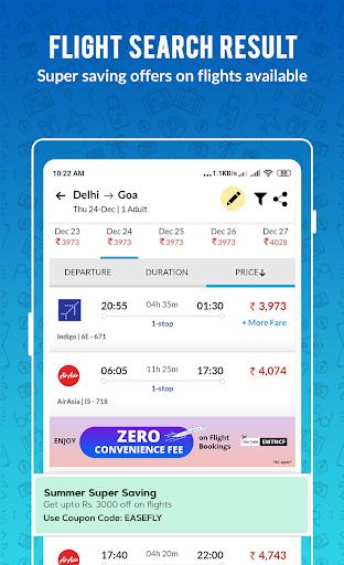 EaseMyTrip – Cheap Flights, Hotels, Bus & Holidays 3 تصوير الشاشة