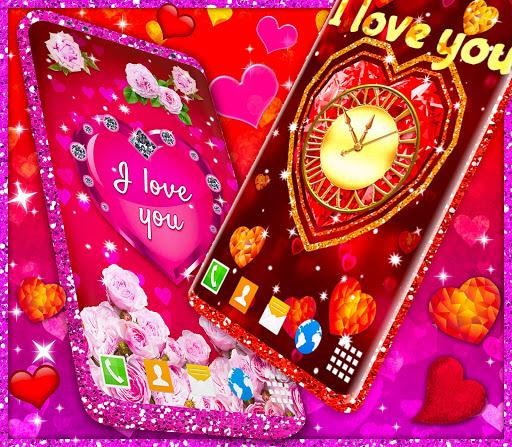 Diamond Hearts Live Wallpaper 💎 Love 4K Wallpaper 6 تصوير الشاشة