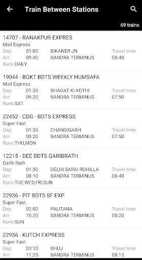 Indian Rail Enquiry (No Ads) screenshot 4