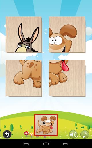 مكعبات لغز للأطفال الرضع -  الحيوانات 1 تصوير الشاشة