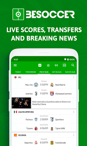 BeSoccer - Soccer Live Score screenshot 1