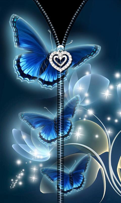 3D Butterfly Zipper UnLock 4 تصوير الشاشة