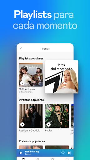 Deezer: música, playlists y podcasts screenshot 4