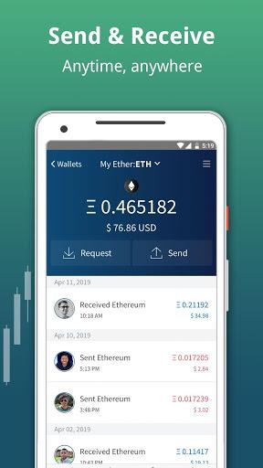 Edge - Bitcoin, Ethereum, Monero, Ripple Wallet 3 تصوير الشاشة