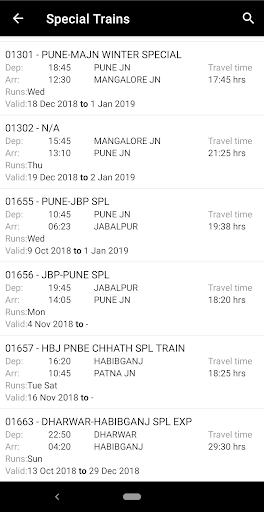 Indian Rail Enquiry (No Ads) screenshot 8