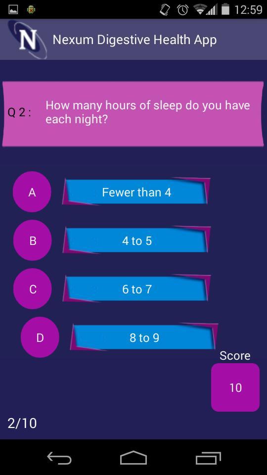 Nexum Digestive Health App screenshot 3