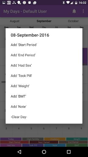 My Days - Ovulation Calendar & Period Tracker ™ 2 تصوير الشاشة