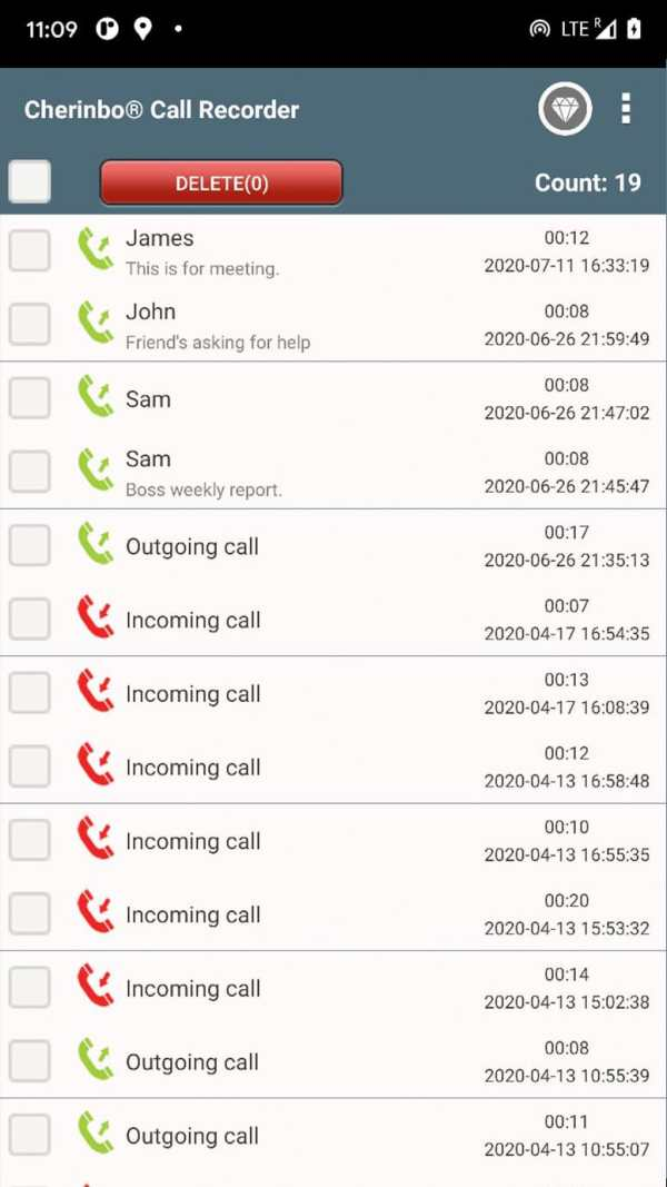 Call Recorder ACR: Record voice clearly, Backup screenshot 2