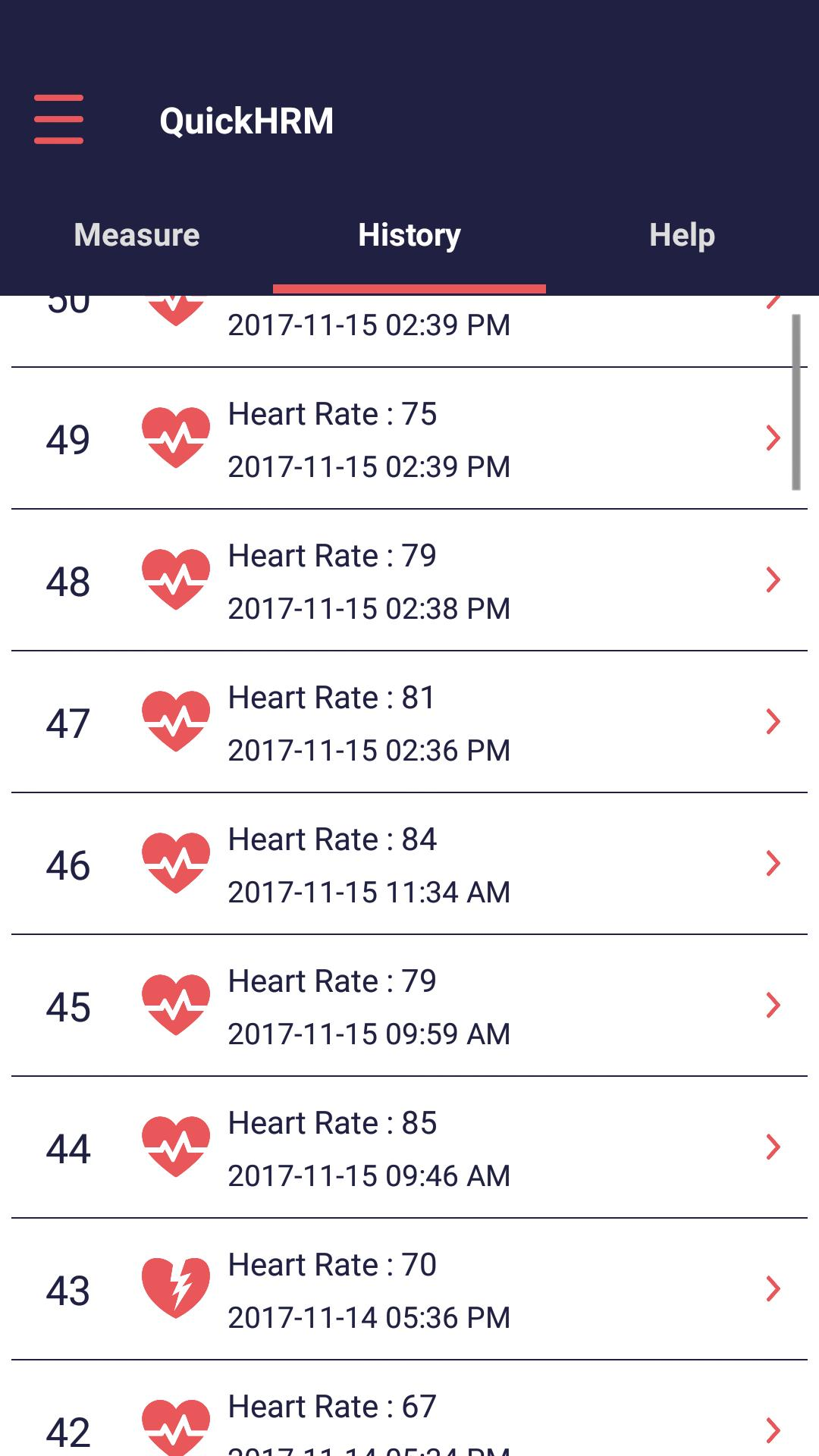 Quick Heart Rate Monitor 2 تصوير الشاشة