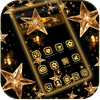 Gold Star Theme Wallpaper Lux Black Gold أيقونة