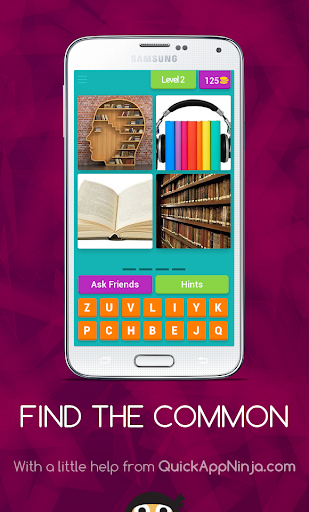 Find The Common:4 PICS 1 WORD screenshot 1