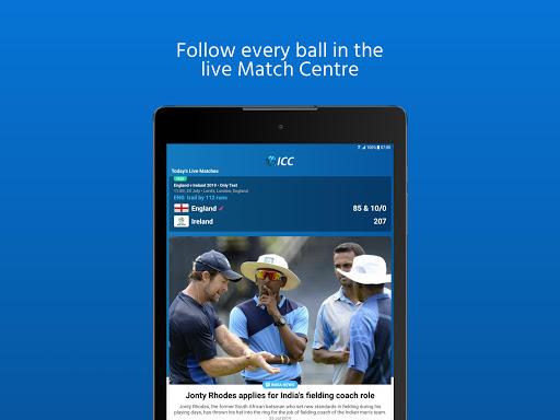 ICC - Live International Cricket Scores & News 15 تصوير الشاشة