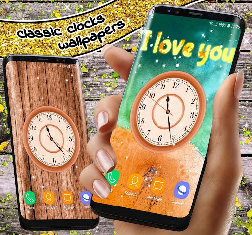 Analog Clock App ❤️ Classic Live Wallpaper Themes screenshot 4