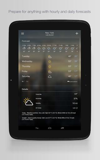 Yahoo Weather 14 تصوير الشاشة