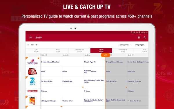 JioTV – News, Movies, Entertainment, LIVE TV screenshot 9