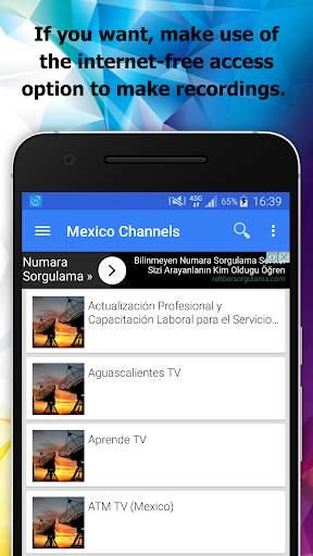 TV Mexico Channels Info screenshot 4