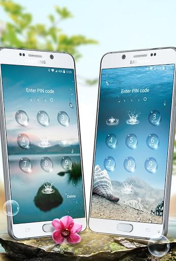 Lock screen - water droplets screenshot 3
