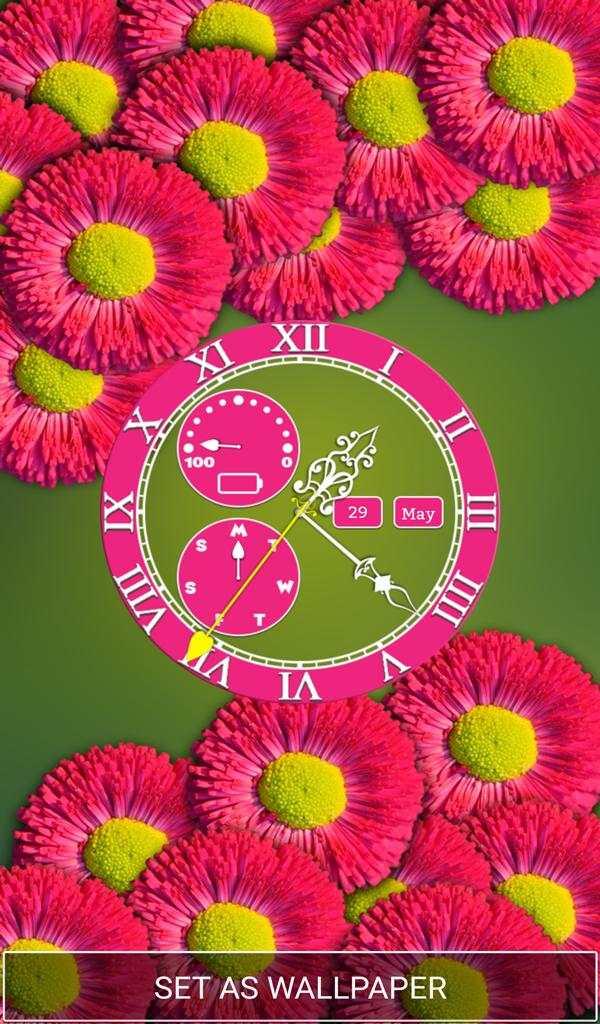 Flower Clock Wallpaper screenshot 7