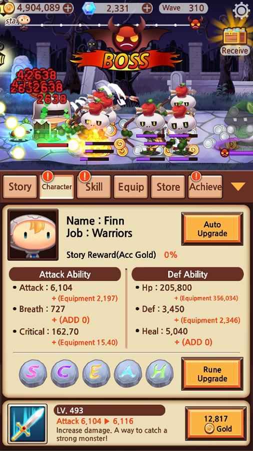 Sudden Warrior (Tap RPG) screenshot 5