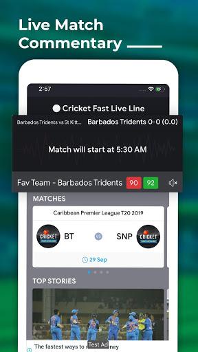 Cricket Fast Live Line 1 تصوير الشاشة