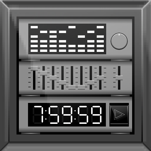 music player with parametric equalizer & surround icon