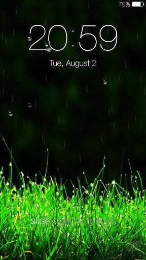 Galaxy rainy lockscreen screenshot 6