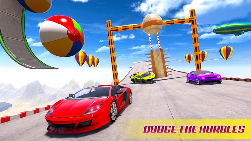 Mega Ramp Car Stunt Racing 3D - Impossible Roads screenshot 2