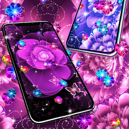 Glowing flowers live wallpaper screenshot 3