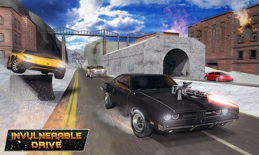 Furious Car Shooting Game: Snow Car war Games 2021 screenshot 1