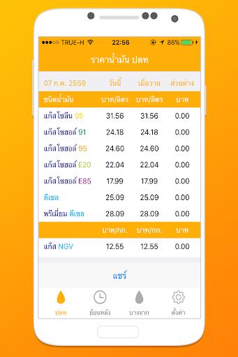 ราคาน้ำมัน ประเทศไทย screenshot 1