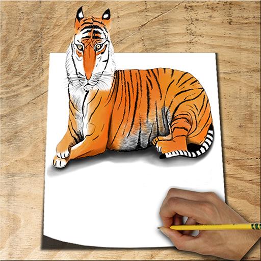 تعليم رسم الحيوانات أيقونة