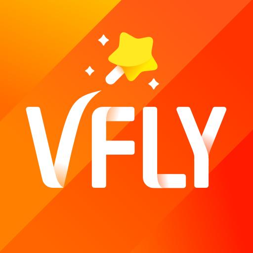 VFly - Video editor, Video maker, Video status app أيقونة