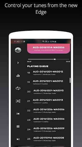 Galaxy S10/S20/Note 20 Edge Music Player 3 تصوير الشاشة