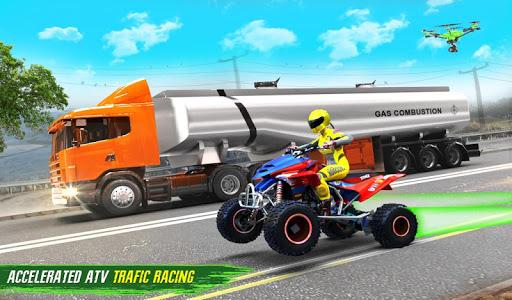 Light ATV Quad Bike Racing, Traffic Racing Games screenshot 9
