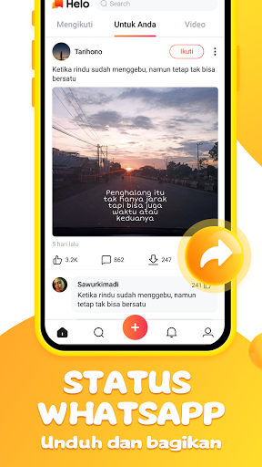 Helo - Video Lucu, Status Whatsapp dan Sepakbola screenshot 2