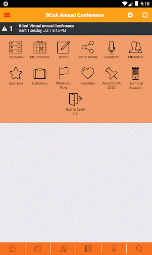BCxA Conferences screenshot 2