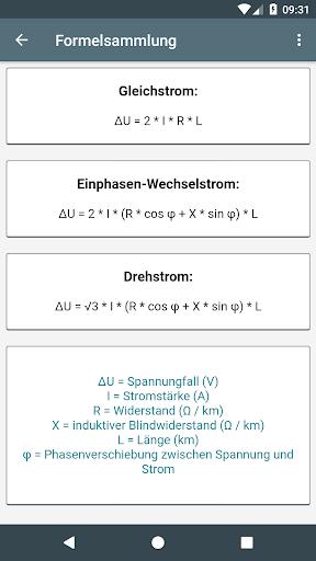 Elektro Berechnungen screenshot 5