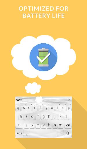 Wave Animated Keyboard + Emoji 8 تصوير الشاشة
