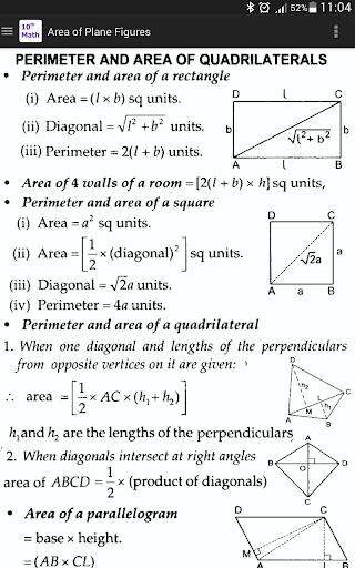 10th Class Math Formula 5 تصوير الشاشة
