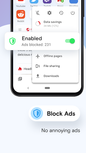 Opera Mini - fast web browser screenshot 3