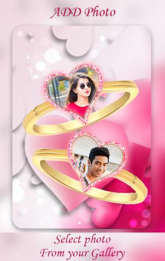 Lovely Ring Photo Frames : Love Couple Rings screenshot 1