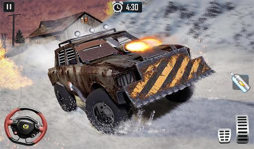Furious Car Shooting Game: Snow Car war Games 2021 screenshot 12