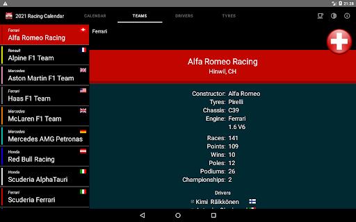 Racing Calendar 2021 screenshot 12