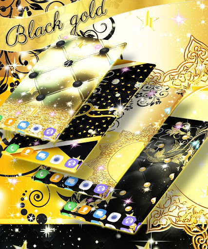 Black gold live wallpaper screenshot 3