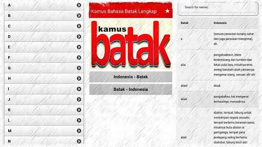 Kamus Bahasa Batak Indonesia Lengkap screenshot 1