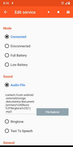 Battery Sound Notification screenshot 2