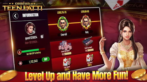 Teen Patti Comfun-Indian 3 Patti Card Game Online 5 تصوير الشاشة