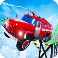 Firefighter Truck Transform Racing Ramp Stunt Game on APKTom