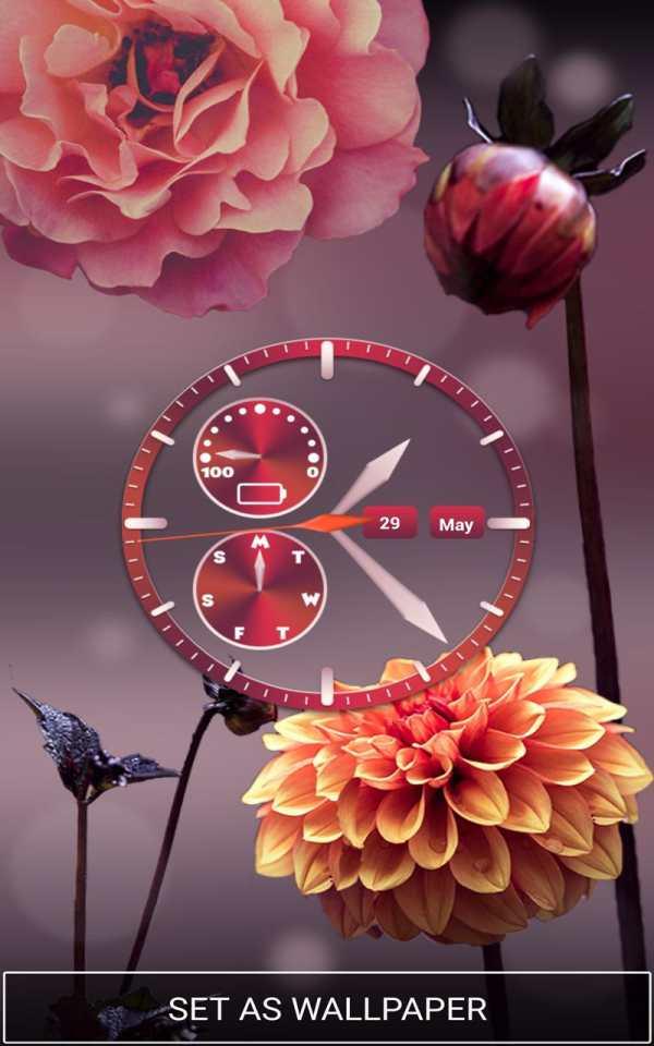 Flower Clock Wallpaper screenshot 6
