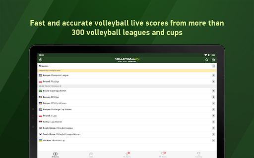 Volleyball 24 - live scores screenshot 5